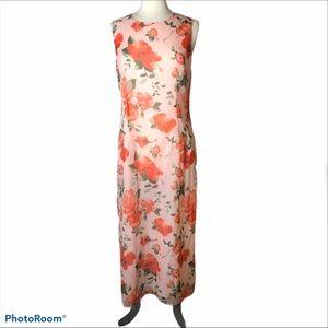 Chadwicks 2 piece Vtg Maxi Dress and Cardi Sz 12